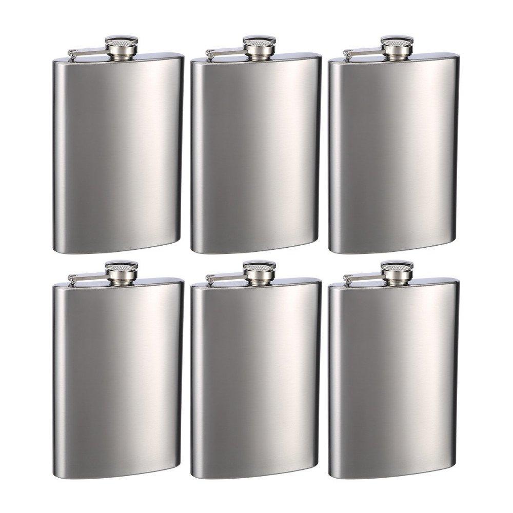 【★安心の定価販売★】 Engraved Set of Six 8oz Flasks Stainless Shelf Steel Groomsman Flasks Flasks - Personalized by Top Shelf Flasksつ by Top Shelf Flasks B0170T48FG, バスコフーズ:fe3f2cb8 --- dance.officeporto.com