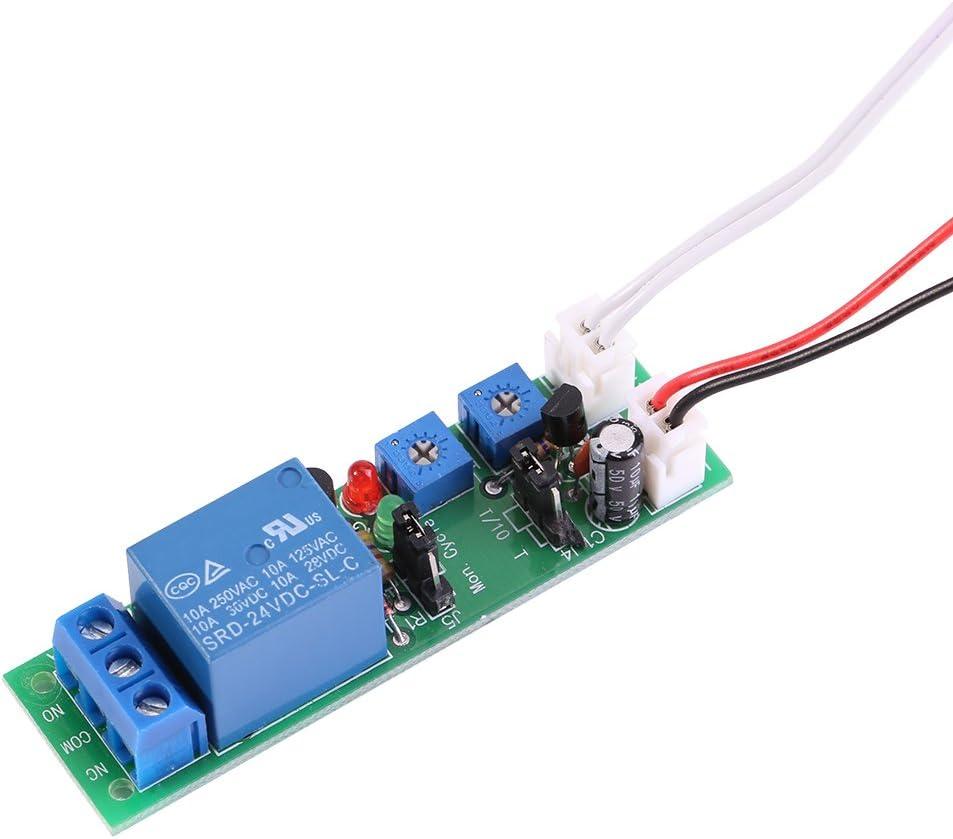1 unid DC 12 V / 24 V Tiempos de Ciclo Ajustable Módulo de Interruptor Retardo On/Off Temporizador Temporizador 6 Tipos Opcionales(DC24V 0-15mins)