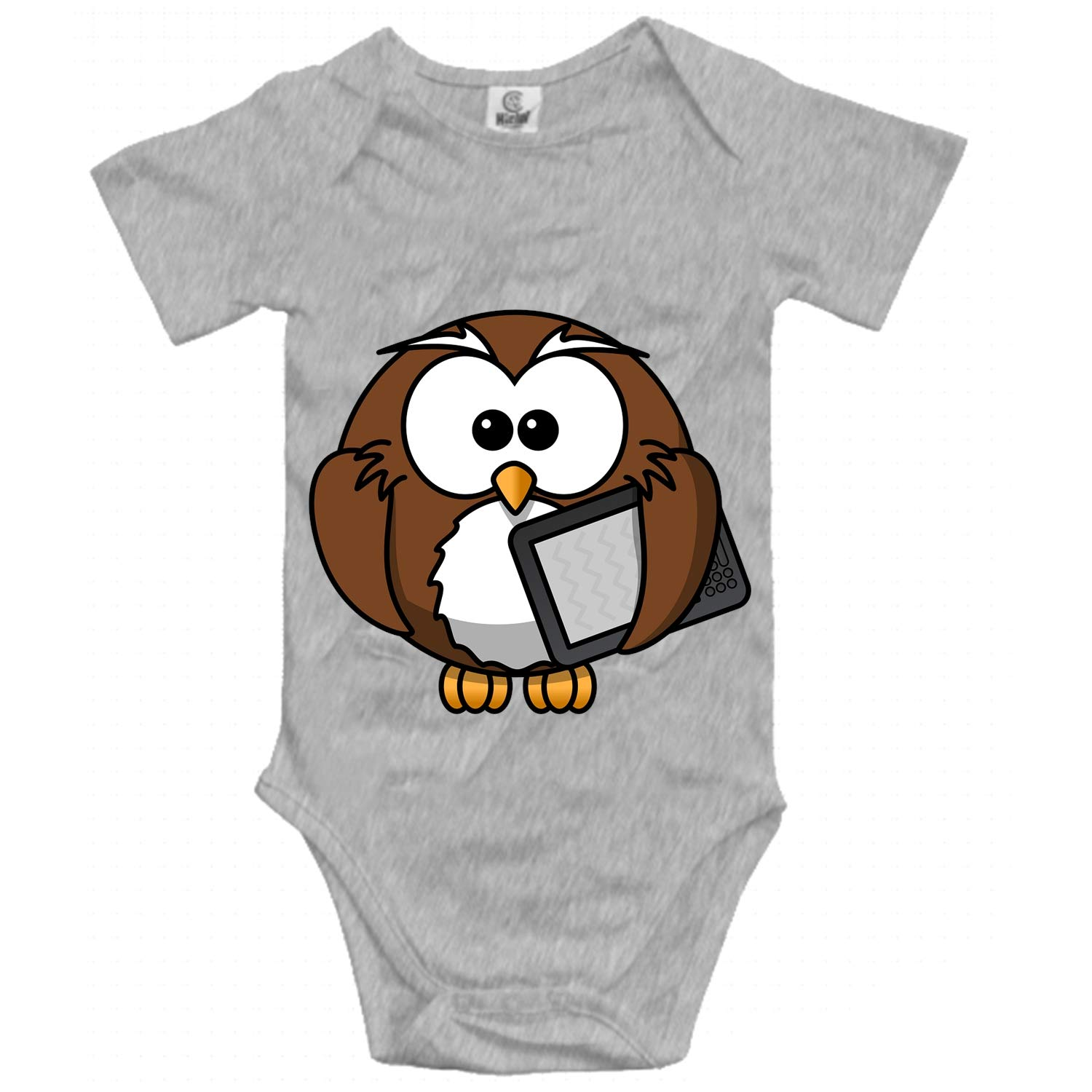 ZWETTET Baby Clothing with Gray Coyote Howling Funny Baby Bodysuit