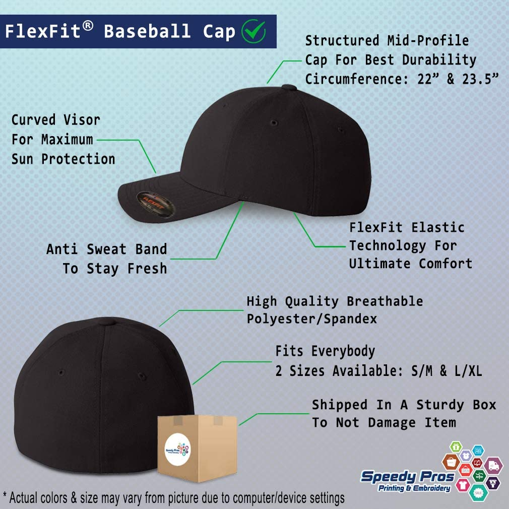 Custom Flexfit Hats for Men /& Women Cartoon Cat Mom Pawprint A Embroidery
