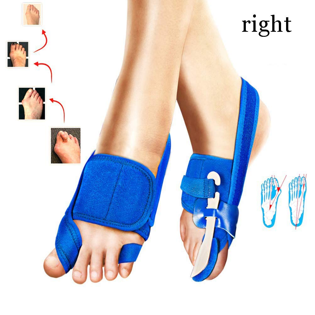 LMEIL Bunion Corrector and Bunion Relief Kit - Bunion Splint Toe Straightener Brace for Hallux Valgus Pain Relief Fits Men Women (Blue) by LMEIL