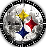 Steelers Frameless Borderless Wall Clock F36 Nice For Gift or Room Wall Decor