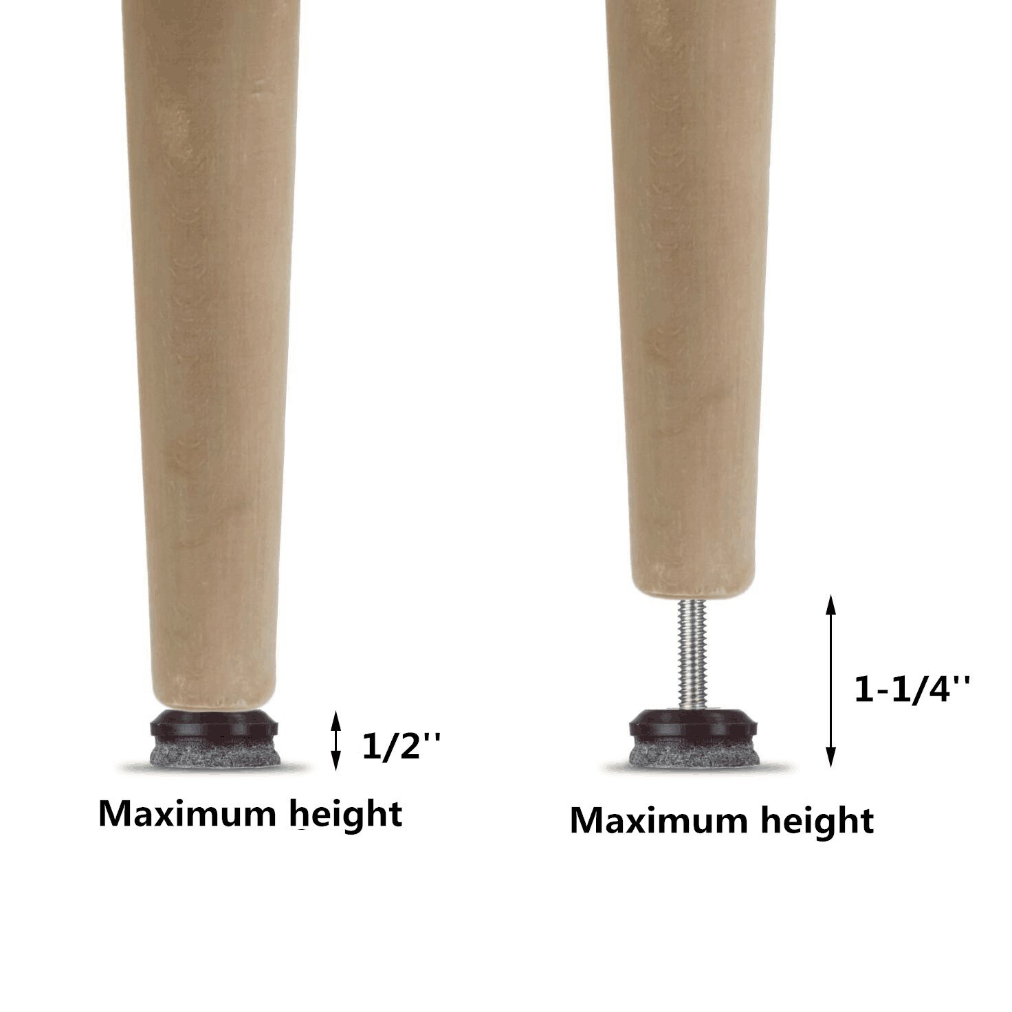 Adjusting Felt Pads for Chair Legs and Furniture Furniture