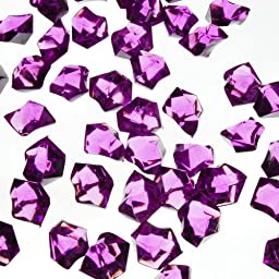 CYS Acrylic Rocks in Different Colors. Pack of 4 lbs (Violet)