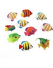 WINOMO 10pcs artificiel se déplaçant flottant poissons d'aquarium décorations d'ornement