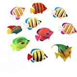 WINOMO 10pcs artificiel se déplaçant flottant poissons d'aquarium décorations d'ornement