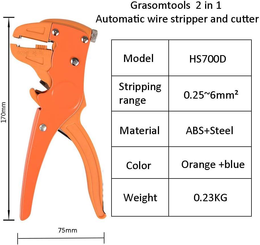 serrage automatique song 16 /à 24 AWG r/églable /à la pression outil de d/énudage automatique int/égr/é dans le coupe-fil Pince /à d/énuder automatique /à r/églage automatique