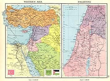 Middle east turkey transjordan palestine israel syria levant states turkey transjordan palestine israel syria levant states 1938 old antique vintage gumiabroncs Choice Image