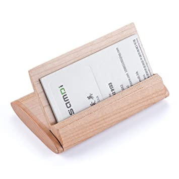 Visitenkartenhalter Samdi Professionelle Schutzhülle Holz
