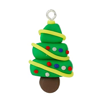 Polymer Clay Christmas Tree.Amazon Com Housweety 10pcs Green Polymer Clay Christmas