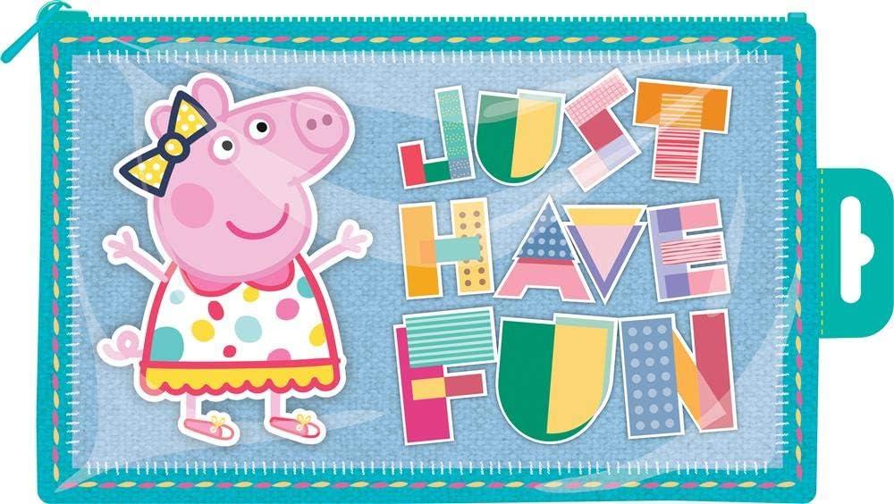 Peppa Pig Brillante Plástico Estuche Just Have Fun: Amazon.es: Oficina y papelería