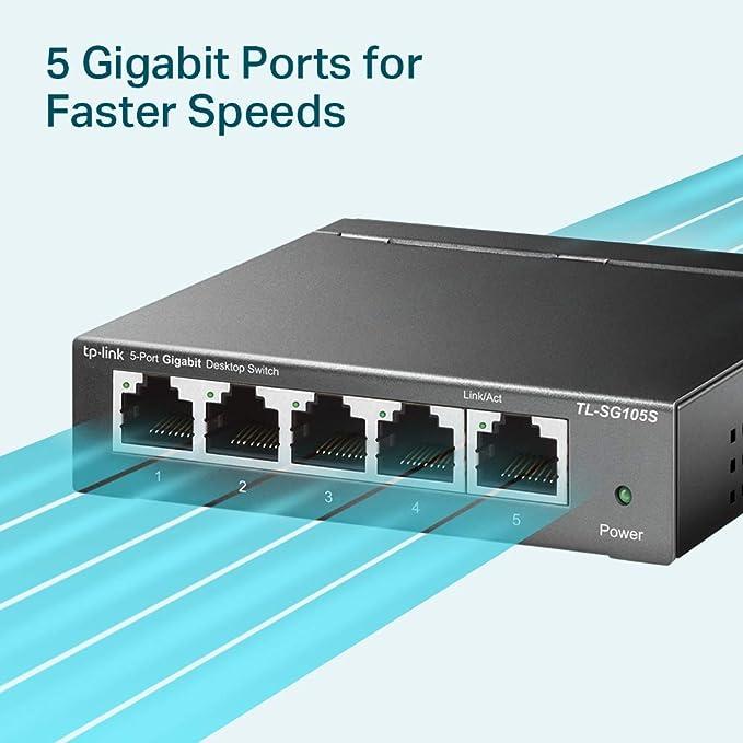 Tp Link Netzwerk Switch Tl Sg105s 5 Computer Zubehör