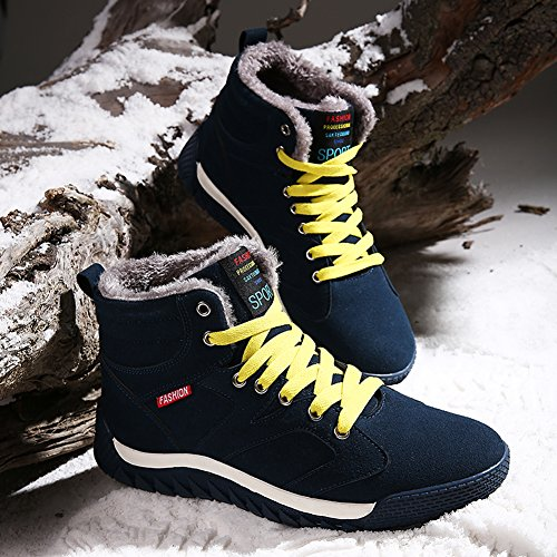 Shoes Men Casual Fashion Outdoor Slip Lace Sports Non Snow for up Cotton Green Warm Boots Moodeng WTzOSU