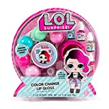 L.O.L. Surprise! Color Change Lip Gloss By Horizon Group Usa, Mix & Create Your Own 5 Color Changing Lip Glosses, DIY Lip Gloss Making Kit, Multicolor
