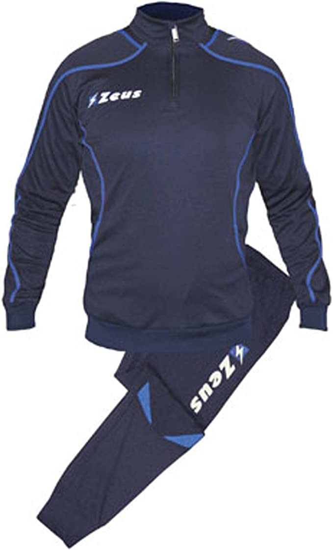 Tuta Training Fauno Blu-Royal Zeus Palestra Training Jogging Corsa Tempo libero Pegashop