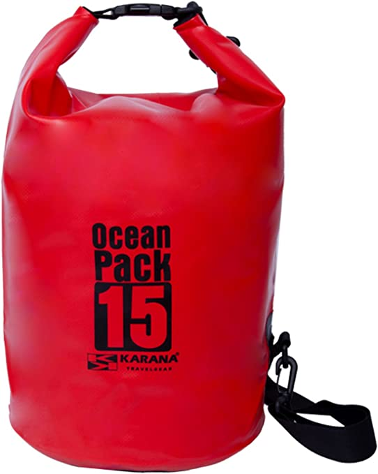 OriginalFromThailand Karana Ocean Pack Impermeable Bolsa Seca 15 litros (112032715), Color Rojo 1 pcs.: Amazon.es: Deportes y aire libre
