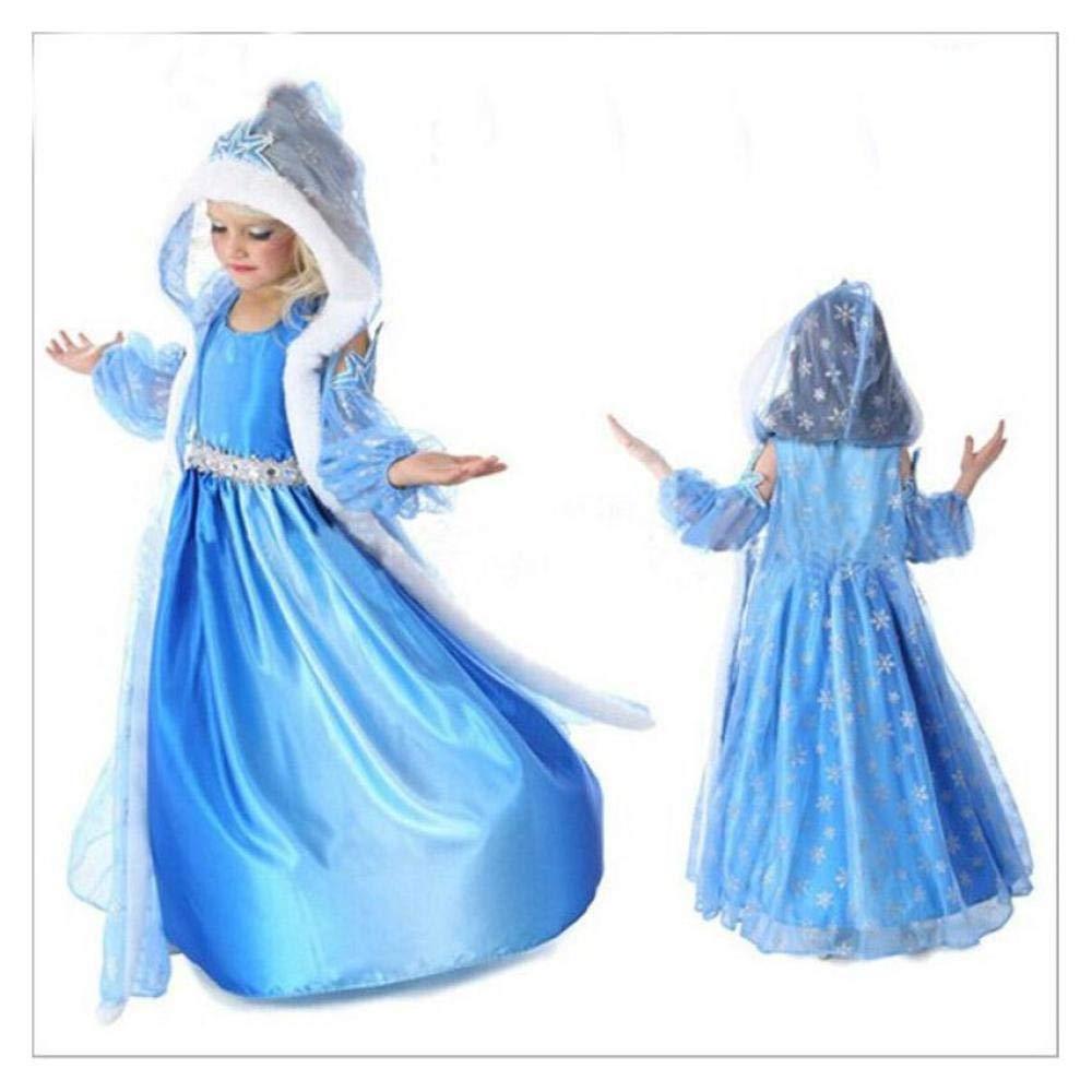 Amazon.com: FidgetKute - Vestido de fiesta para niñas Elsa ...
