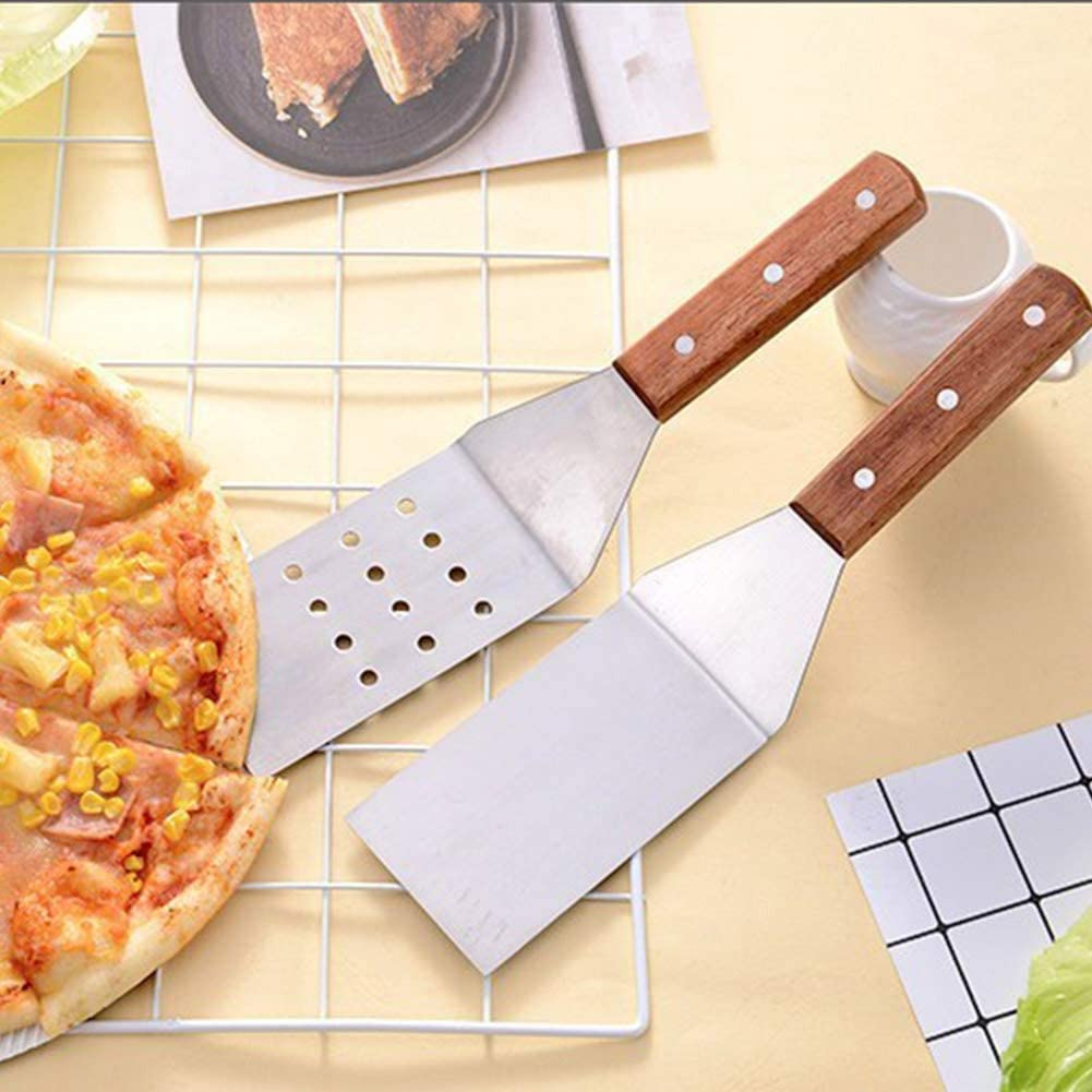 Yevenr 3 pi/èces//Ensemble Poussoir /à Pizza Durable Coupe-Pizza antid/érapant en Acier Inoxydable Pelle /à Pizza Outils de Cuisson Pelle /à Pizza