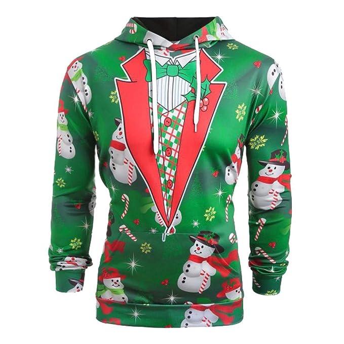 Internet-Traje de Navidad, suéter de Manga Larga con Capucha para Hombre, muñeco de Nieve 3D, árbol de Navidad, Estampado, diseño de Graffiti,Sudadera con ...