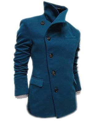 6955d355c13b2 Fanessy Wollmantel Elegante Wintermantel Winterjacke Winter Herbst Jacket  Herren Mantel Jacke Männer Parka Trenchcoat Stehkragen