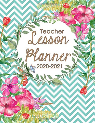 Flexible Cover 2020-2021 Teacher Planner 8 x 10 Lesson Plan Book/Weekly /& Monthly Lessen Planner with Quotes Academic Planner with July 2020-June 2021 Flower Strong Twin-Wire Binding