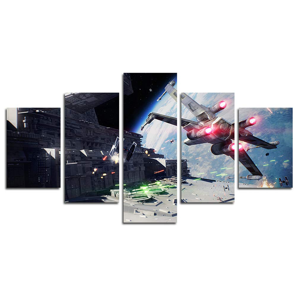 Amazon com hcozy print painting canvas 5 pieces star wars
