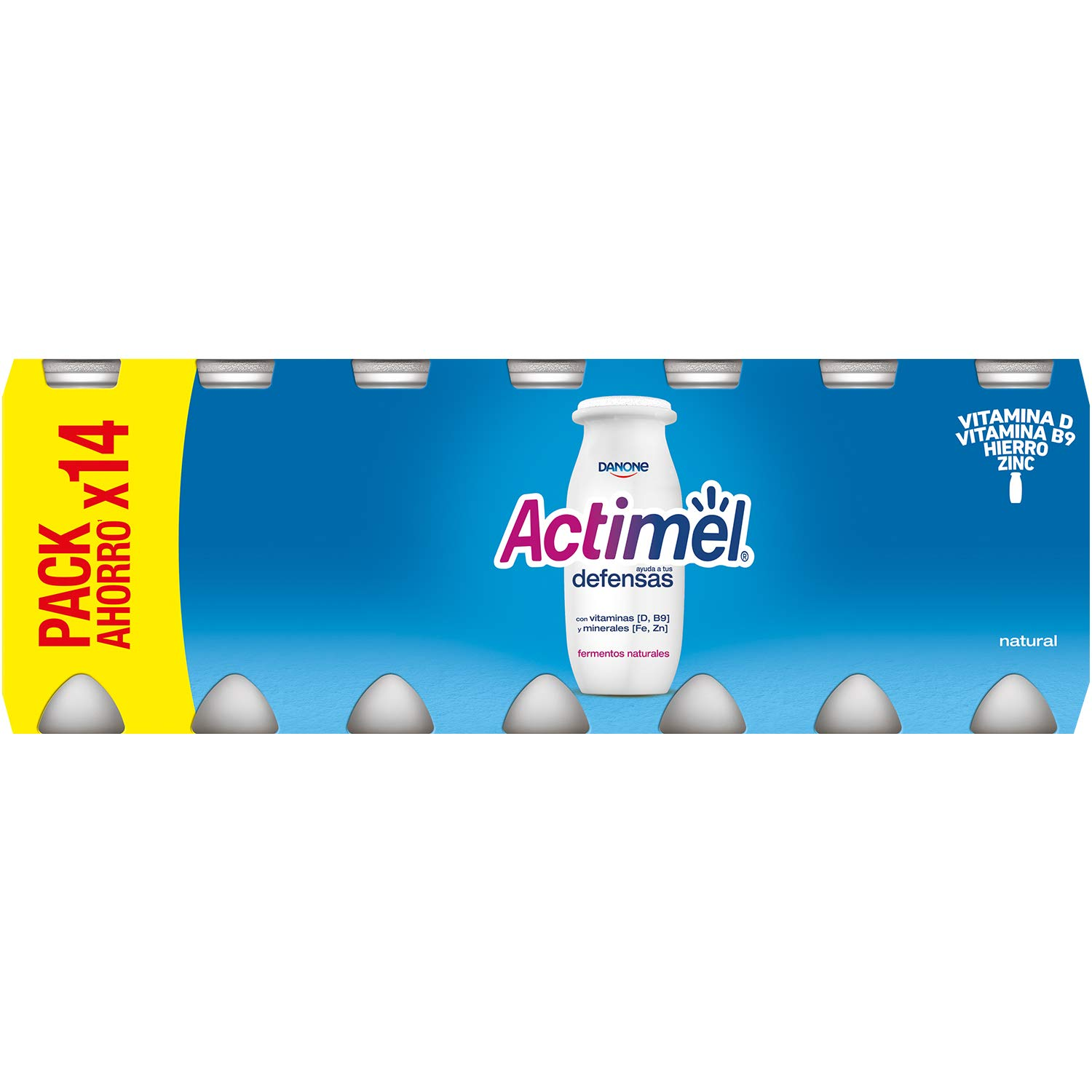 Actimel Natural - Paquete de 14 x 100 ml - Total: 1400 ml: Amazon.es: Alimentación y bebidas