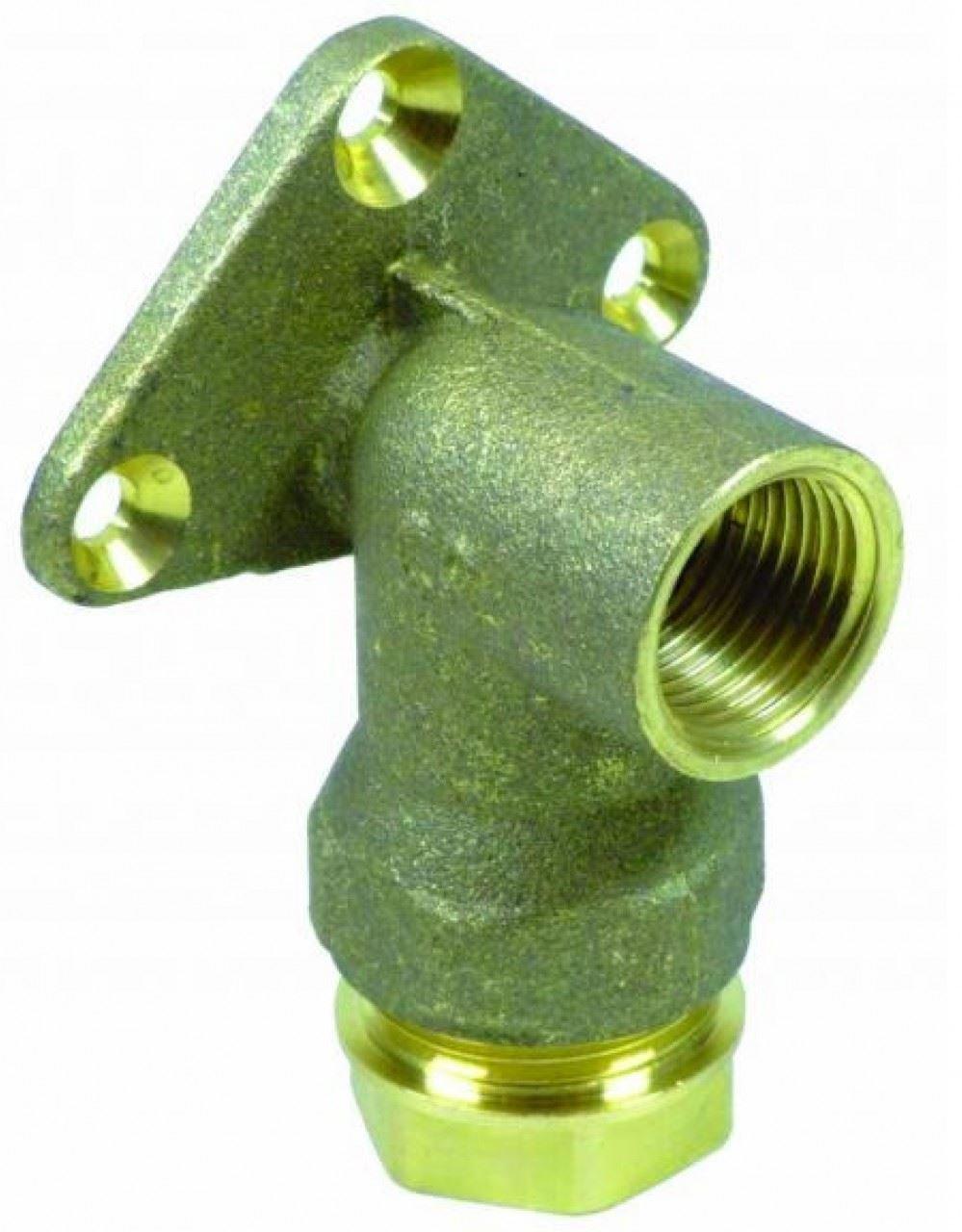 1000 Plass-ONE 20mm x 1//2 Push Fit MDPE Wallplate Elbow