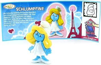 Kinder Uberraschung Schlumpfine Figur Mit Deutschen Beipackzettel Aus Der Serie Die Schlumpfe 2 Amazon De Spielzeug