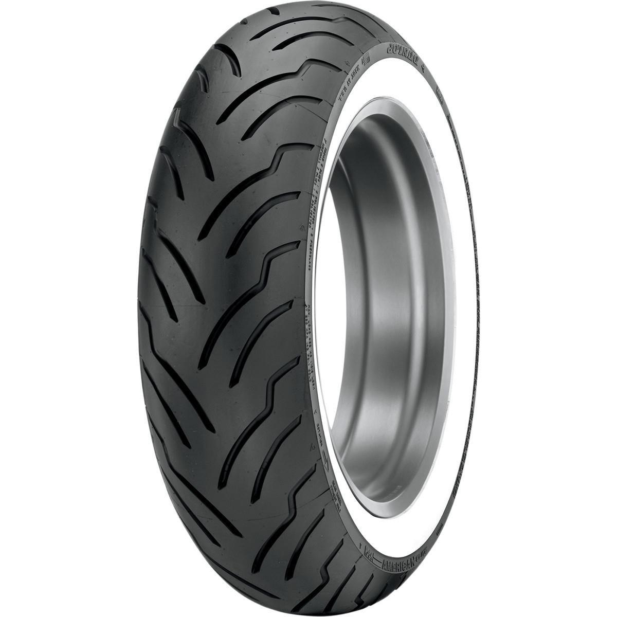 Dunlop Tires American Elite HD Touring Tire - Rear - MT90B16 - Wide Whitewall , Position: Rear, Rim Size: 16, Tire Application: Touring, Tire Size: MT90-16, Tire Type: Street, Tire Construction: Bias