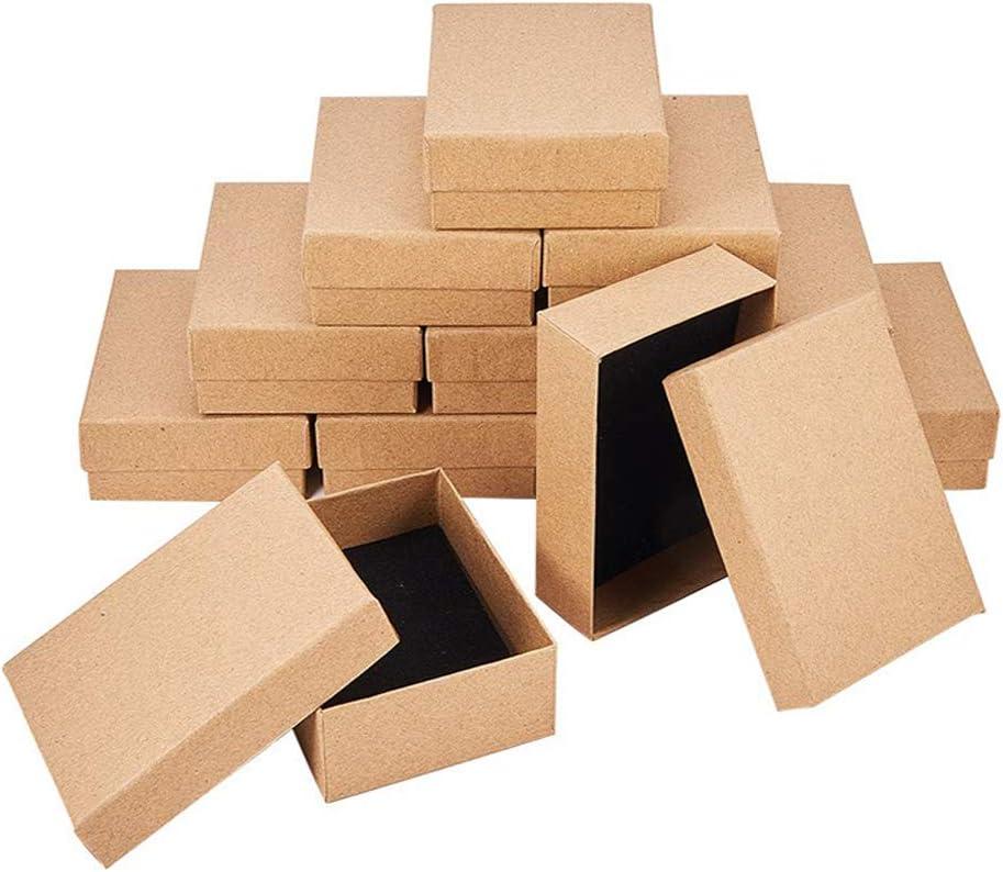Integrity.1 12 Piezas Cajas Rectangulares, Kraft Marró Caja de Joyas ,para Aniversarios, Bodas, Cumpleaños, Exhibiciones de Regalos de Anillos de Collar: Amazon.es: Hogar