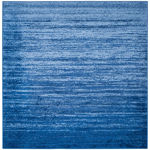 Safavieh Adirondack Collection ADR113F Light Blue and Dark Blue Modern Abstract Square Area Rug (10′ Square)