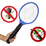 Departure Electric Fly Swatter - Multifunction Bug Zapper Fly Insect Racket Killer, 3V 3-Layer Oversized Mesh Mosquito Repellent & Insect Bug Killer for Indoor and Outdoor(Blue)