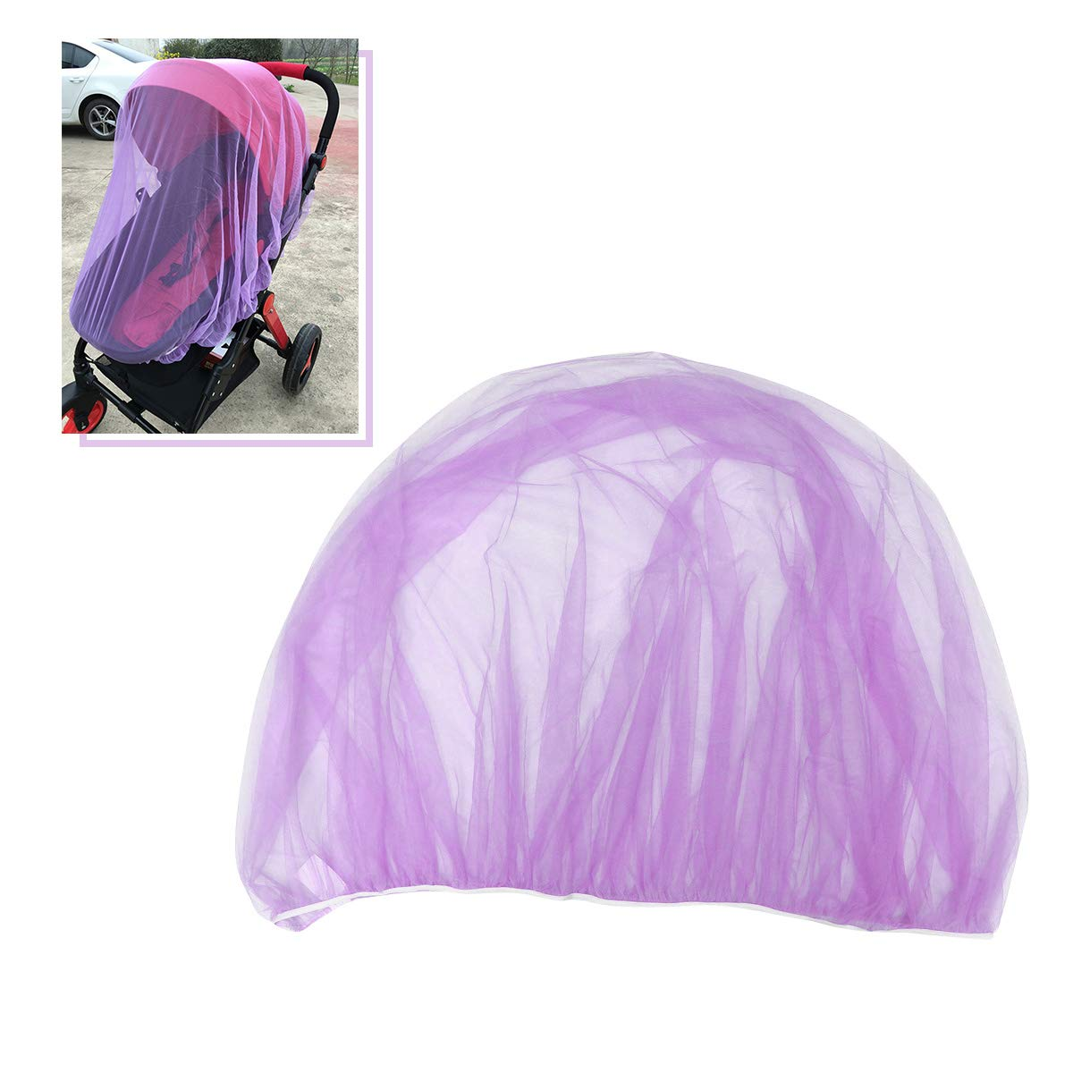 Toyvian Mosquito Net Baby Mesh Insect Bug Cover for Strollers Carriers Car Seats Cradles Black