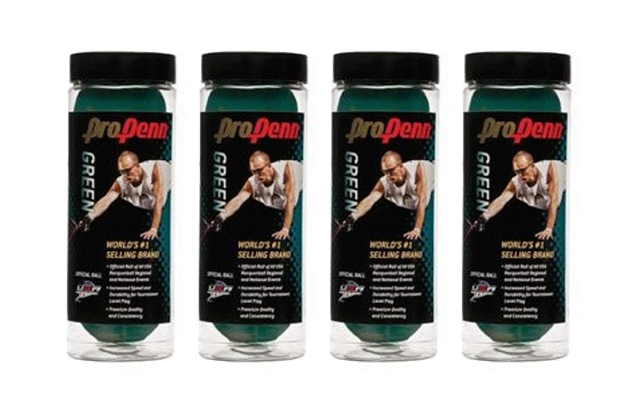 Pro HEAD Green Racquetball - 4 Cans (12 Balls)