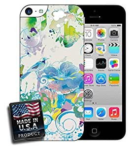 Birds and Flowers Watercolor Design For Iphone 5C Phone Case Cover Hard Case