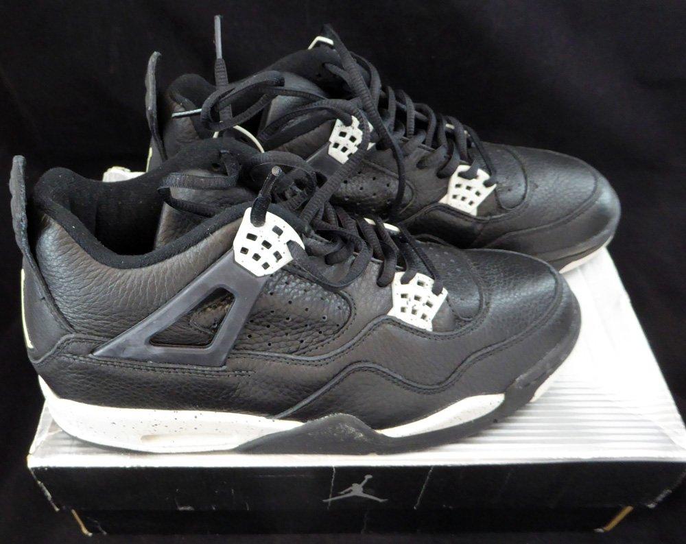 big sale 4da4b de59d Amazon.com  Air Jordan IV Retro + Black   Cool Grey Size 9.5 Unsigned New  Shoes In Box SKU  124595  Sports Collectibles