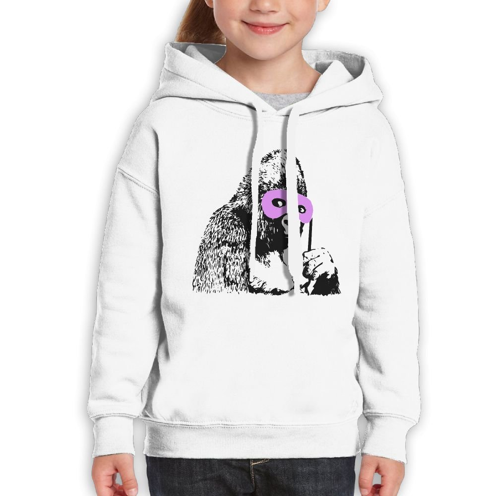 Funny Gorilla With Glasses Youth Print Graphic Hoodies