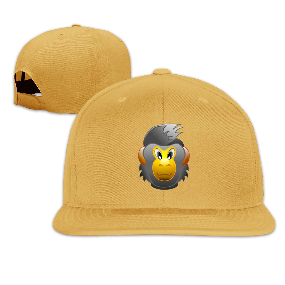 Gorilla Flat Brim Baseball Cap Adjustable Snapback Trucker Hat Caps Hip Hop Hat
