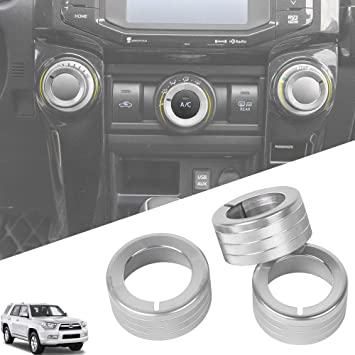 JeCar for Toyota 4Runner Terrain Feedback System Button Decoration Cover Ring Trim Aluminum Alloy Accessory for Toyota 4Runner TRD 2010 2011 2012 2013 2014 2015 2016 2017 2018 2019 Red 2Pcs