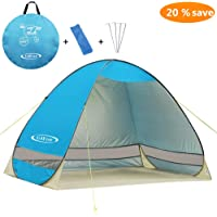 "G4Free Outdoor Automatic Pop up Instant Portable Cabana Beach Tent 2-3 Person Fishing Anti UV Beach Tent Beach Shelter, Sets up in Seconds 78.7"" x 47.2""x 51.2"""