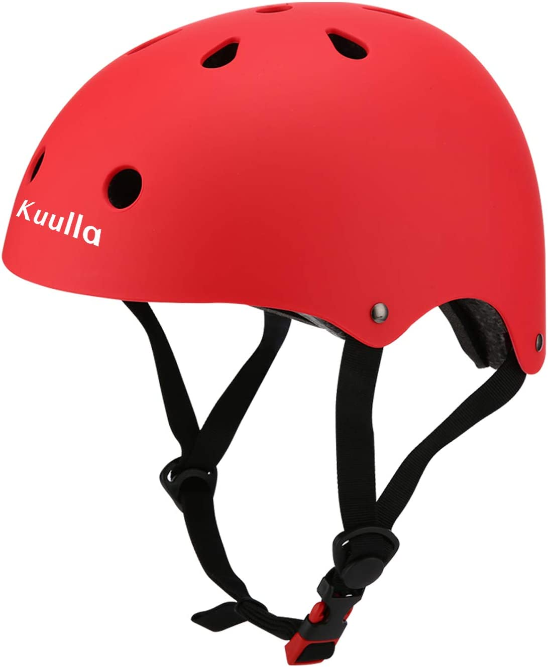 Kuulla Toddler Helmet Kids Bike Helmet Adjustable Kids Helmet Ages 3-8 Years Old Boys Girls 11 Vents Safety Ventilation Design Cycling Skating Scooter Helmet CPSC Certified