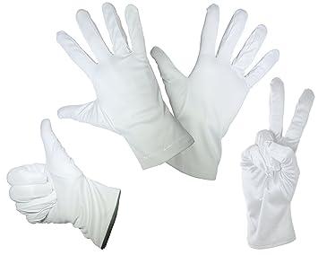 06a0401de67eff 1 Paar feine Mikrofaser Handschuhe - Weiss - In den Größen: S M L XL - Zum