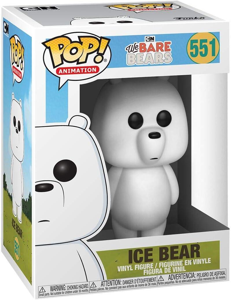 Multicolor 37770 Funko- Pop Vinilo: We Bare Bears: Ice Bear Figura Coleccionable Talla /Única
