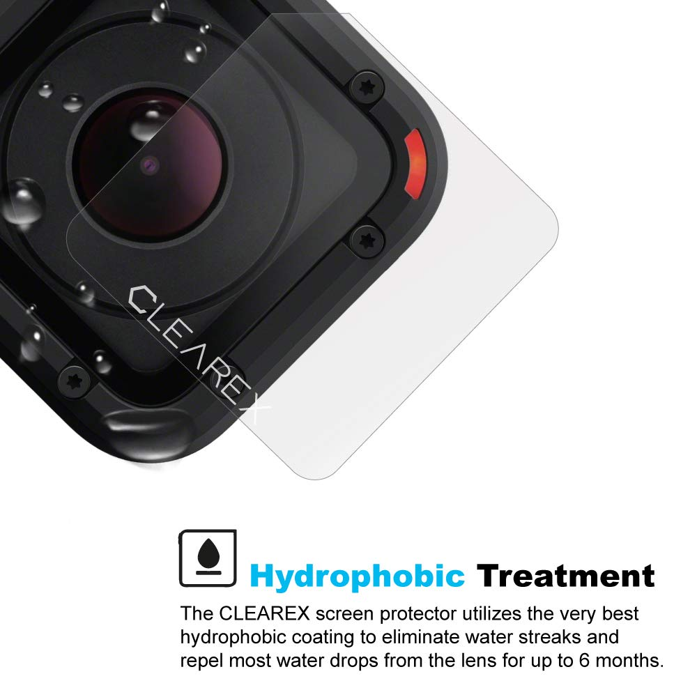 067fb8797 Protector de pantalla hidrofóbico para GoPro Hero Session 4 & 5 por Clearex  repelente al agua, lentes GoPro, vidrio templado ultra transparente, ...