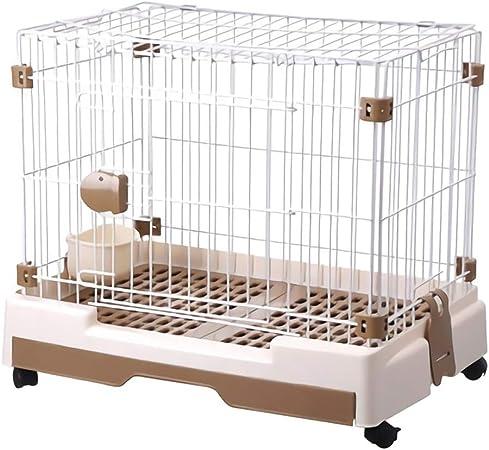 Casetas para perros Jaula for gatos jaula del perro cajas de perro pequeña jaula del animal doméstico del perro del gato grande jaula jaula Pomerania oso perro mascota pequeña Suministros Fence jaula: