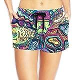 PPANFKEI Hippie Hip Hop Long Womens Boardshorts Swim Trunks Tropical Gym Board Shorts Bathing Swim Trunks