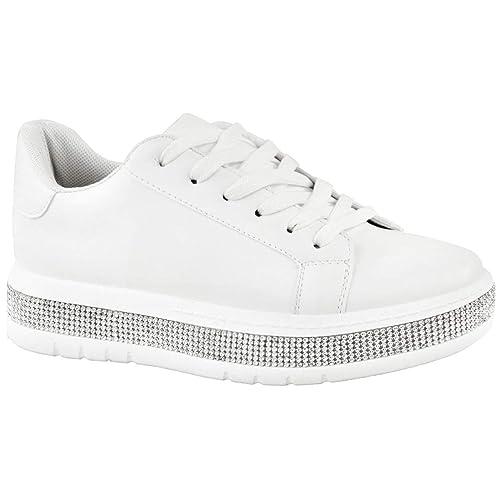 109a2a8fcc6 Fashion Thirsty Mujer Plataforma Gruesa Zapatillas Pedrería Zapatos Top  Alto Talla Nuevo por Heelberry: Amazon.es: Zapatos y complementos