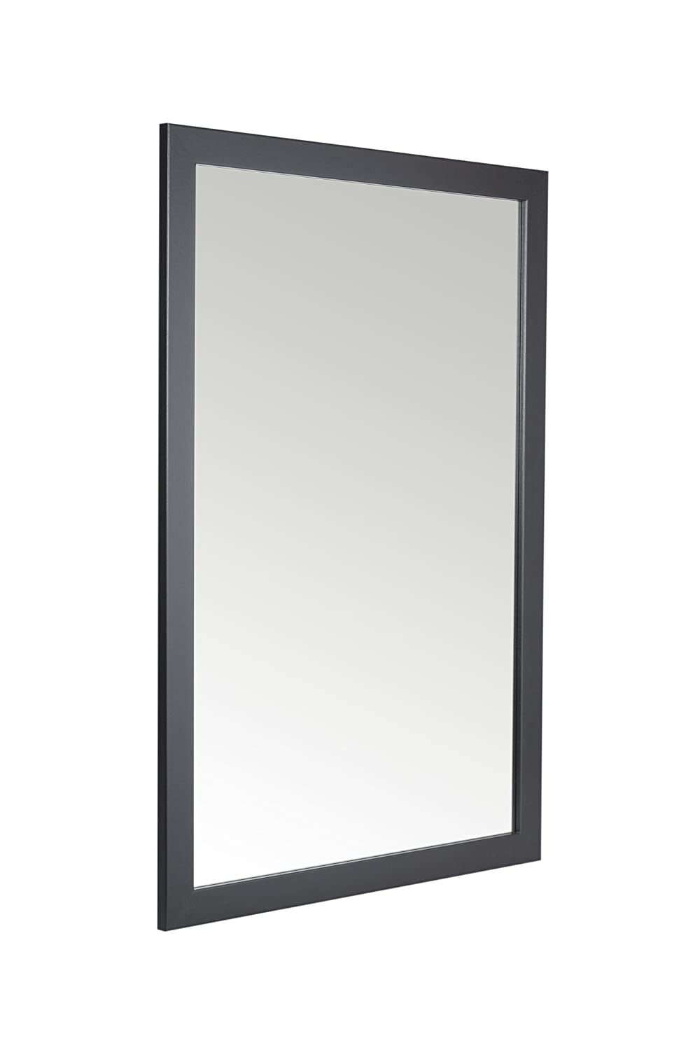58 x 84cm Black Framed Mirror with Wall Hanging Fixings