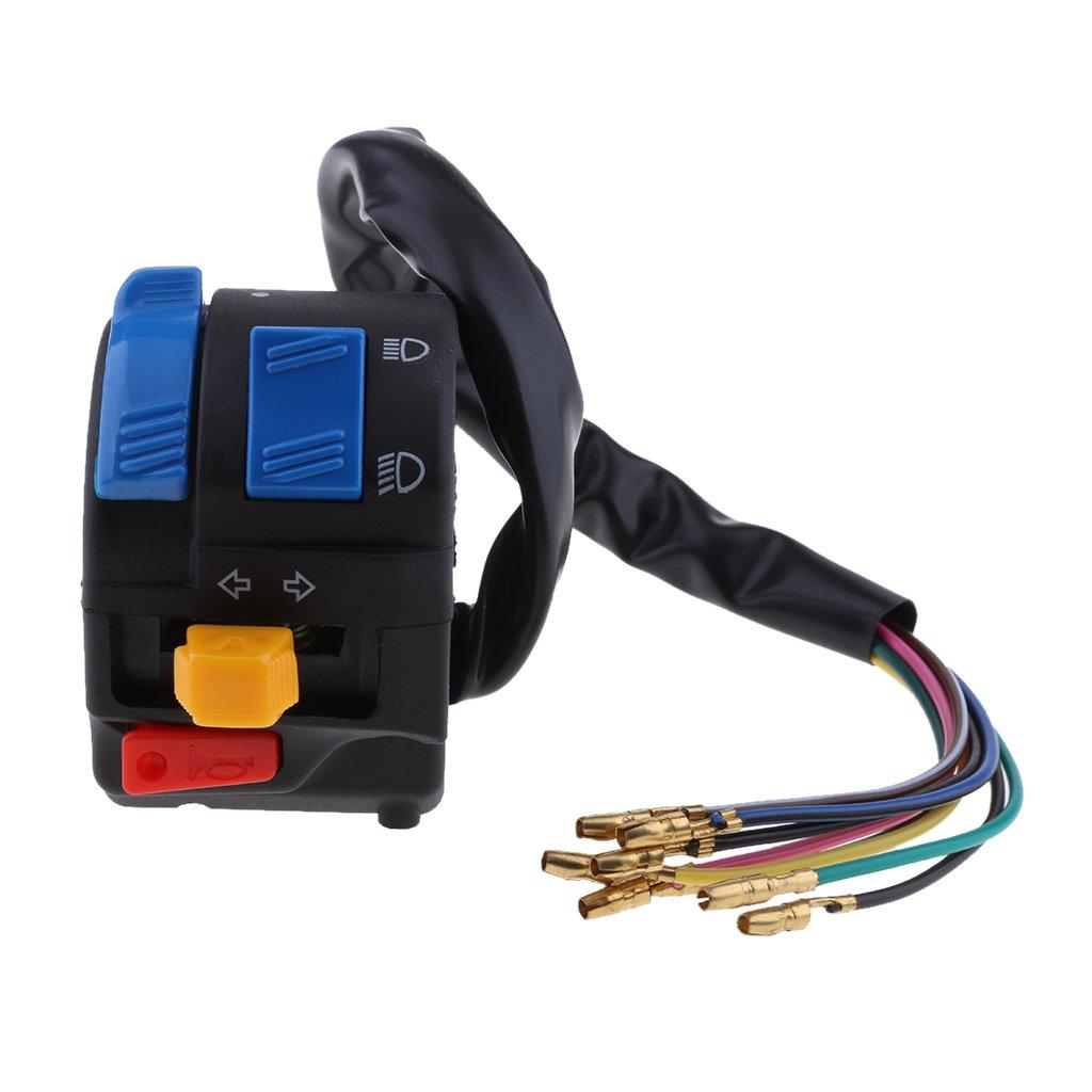 MagiDeal 7/8'' 22mm Handlebar Horn Turn Signal Light Start Control Switch for Honda non-brand